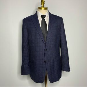 Brooks Brothers Regent Fit Blazer Blue Wool Check
